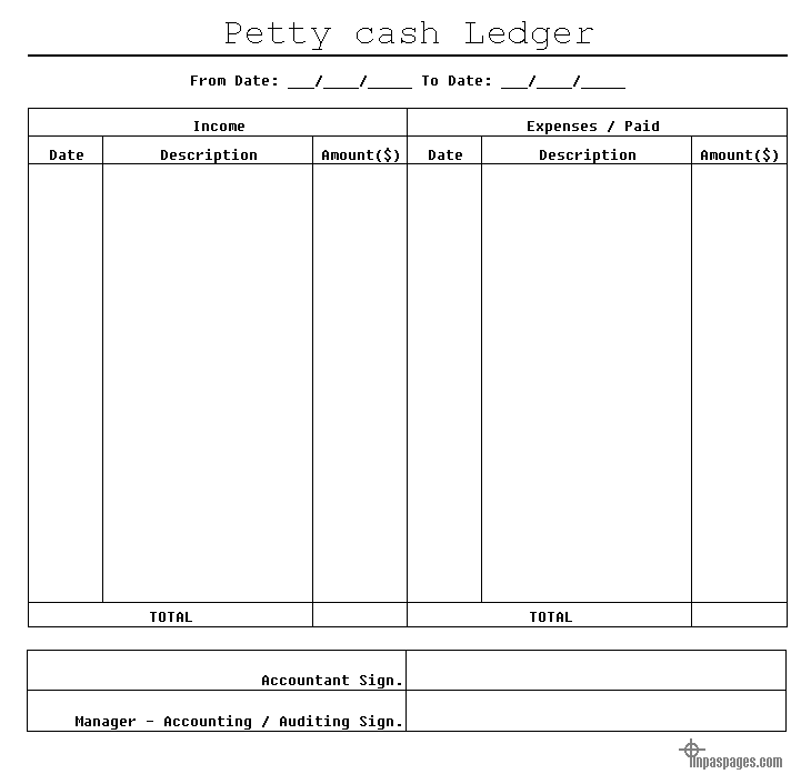 cash ledger template