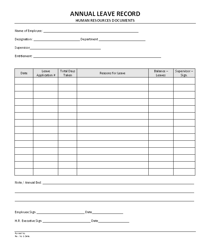 Application letter for holiday leave – Format of Leave Form