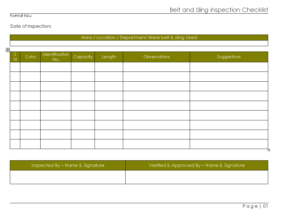 ... Inspection Checklist Template Excel Choice Image Template Design ...