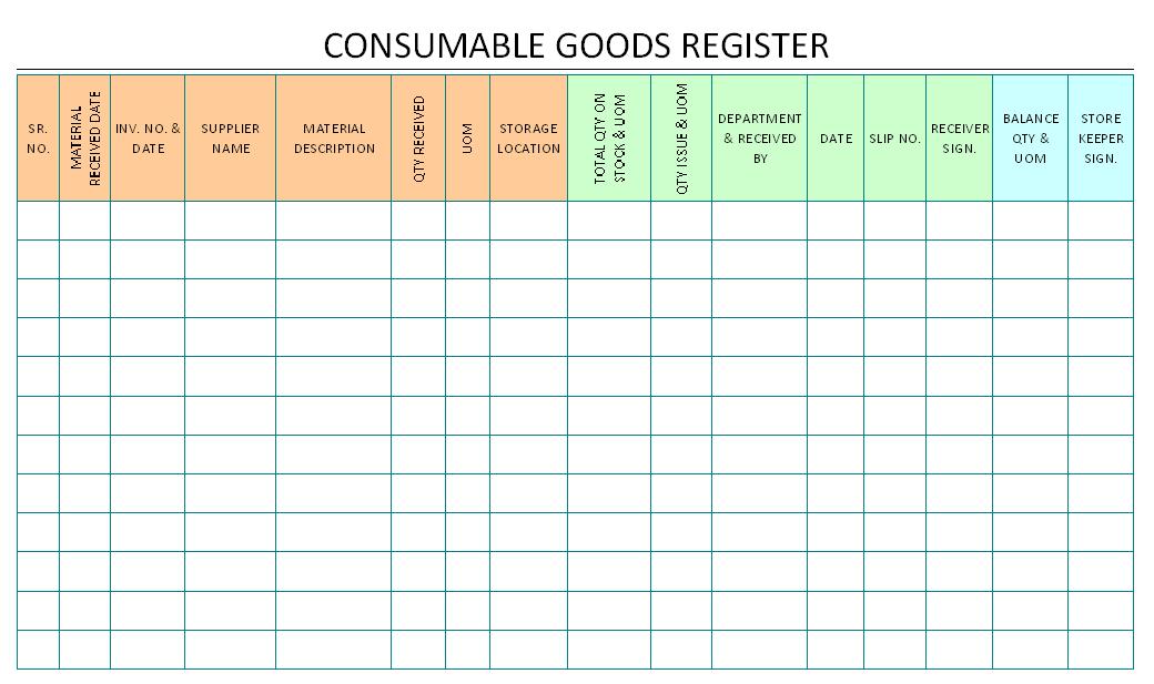 stock register format in excel free download