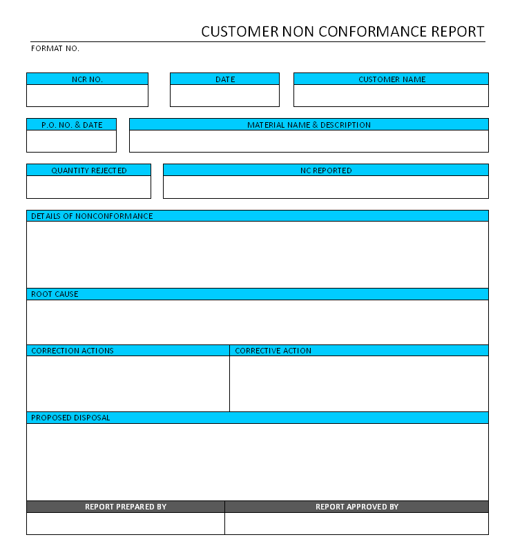How to write a non conformance report