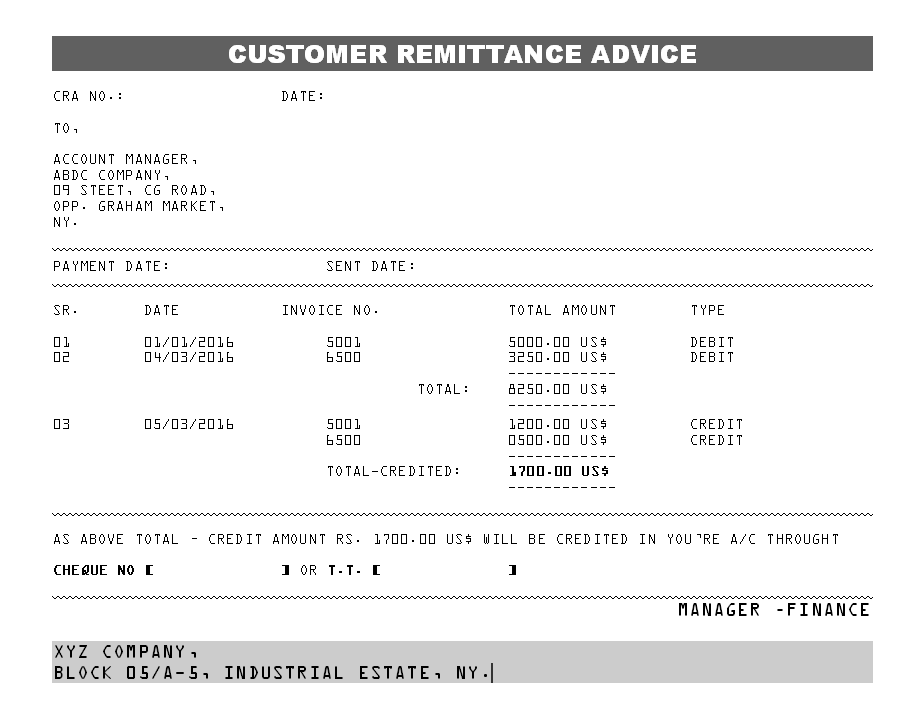 Keywords advice form and Tags – Remittance Advice Slip