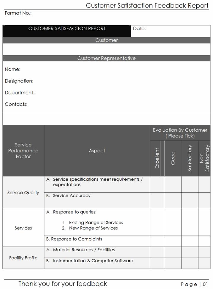 Customer Satisfaction Feedback Form