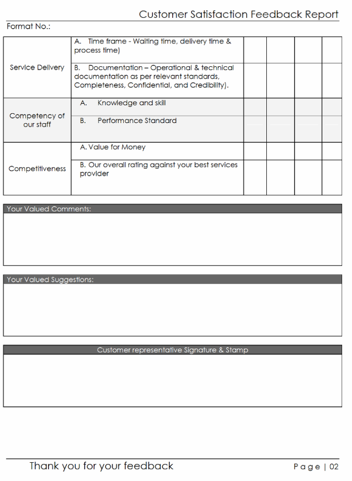Doc405520 Feedback Form Word Template MS Word Printable – Template Form Word