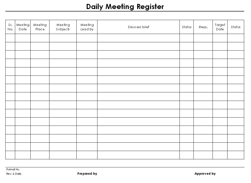 daily meeting report format c ile web e hükmedin