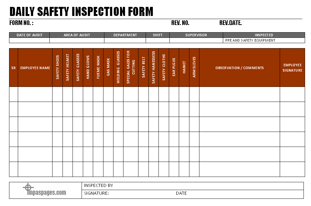 daily report format in excel free download