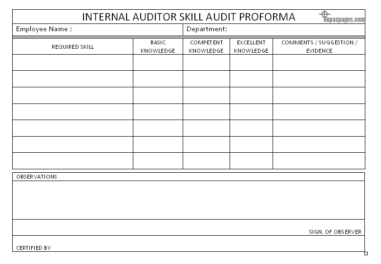 Internal Audit Report Template  Audit Template Word