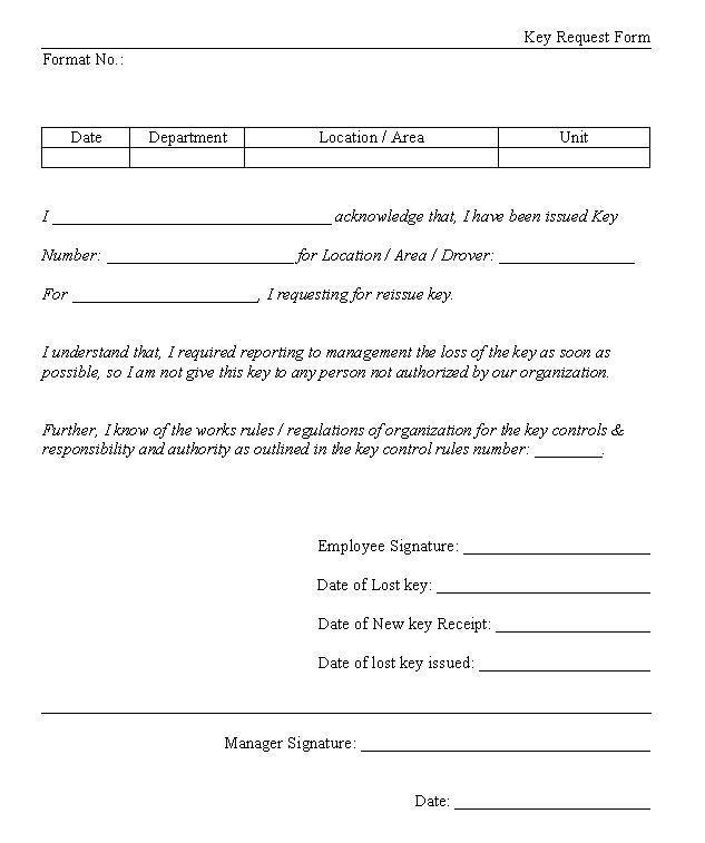 Key request form template barearsbackyard key request form template spiritdancerdesigns Image collections