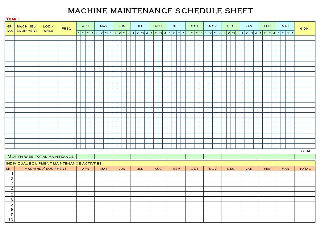 Free Preventive Maintenance Template. preventive maintenance ...