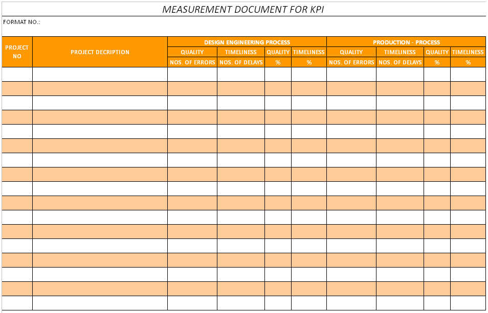 Kpi Template Excel Free
