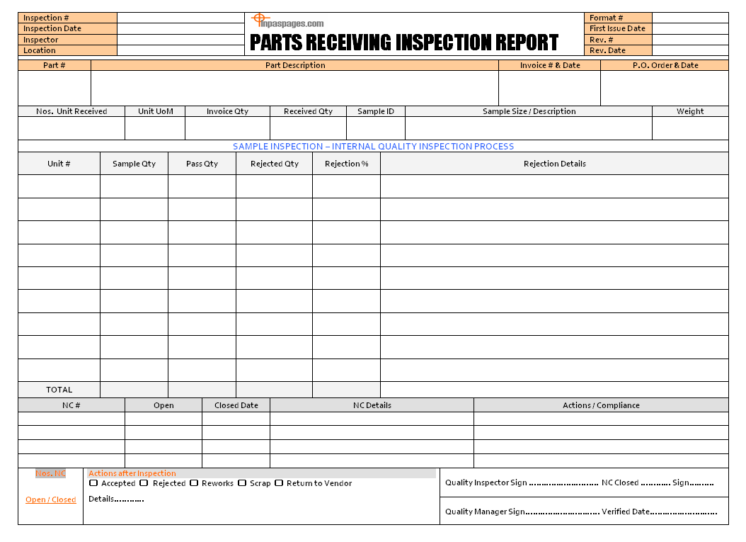 Home Inspection Report Template In Excel from www.inpaspages.com