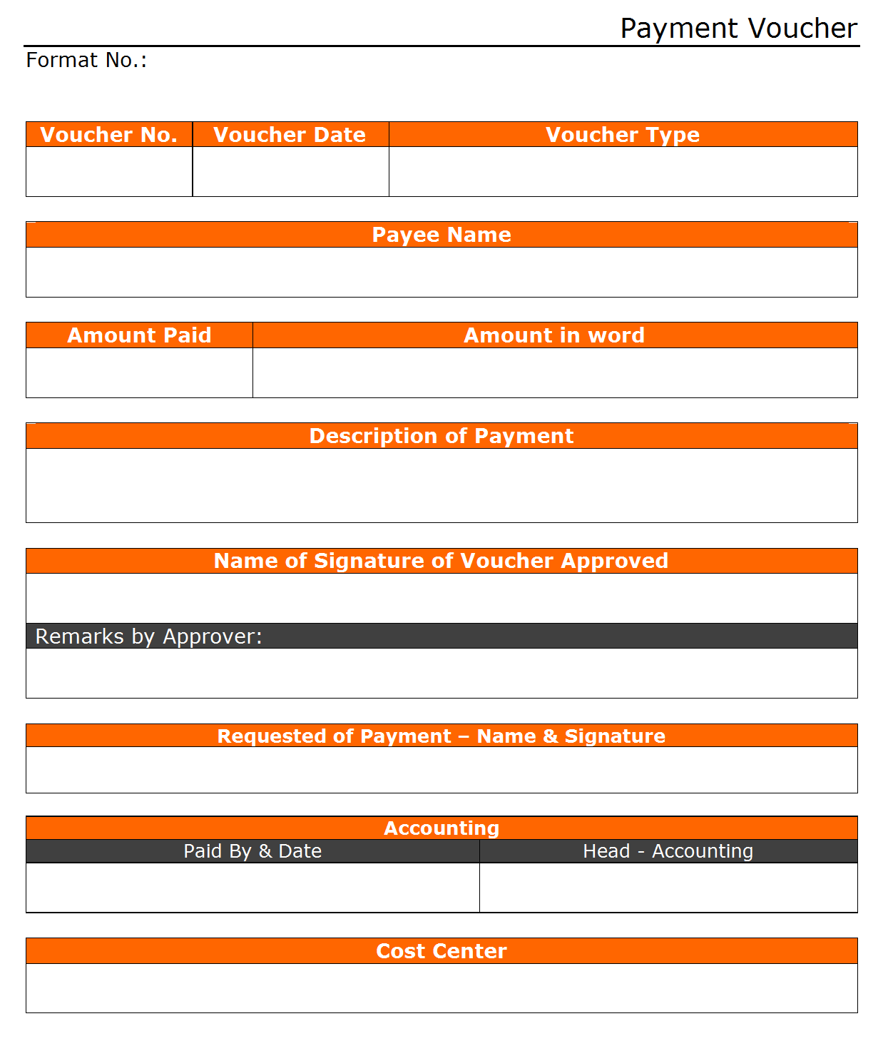 Payment Voucher Format PG 1 | Examples ...  Example Of A Voucher