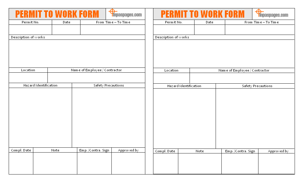 Permit to work form format permit to work form format image 01 pronofoot35fo Gallery