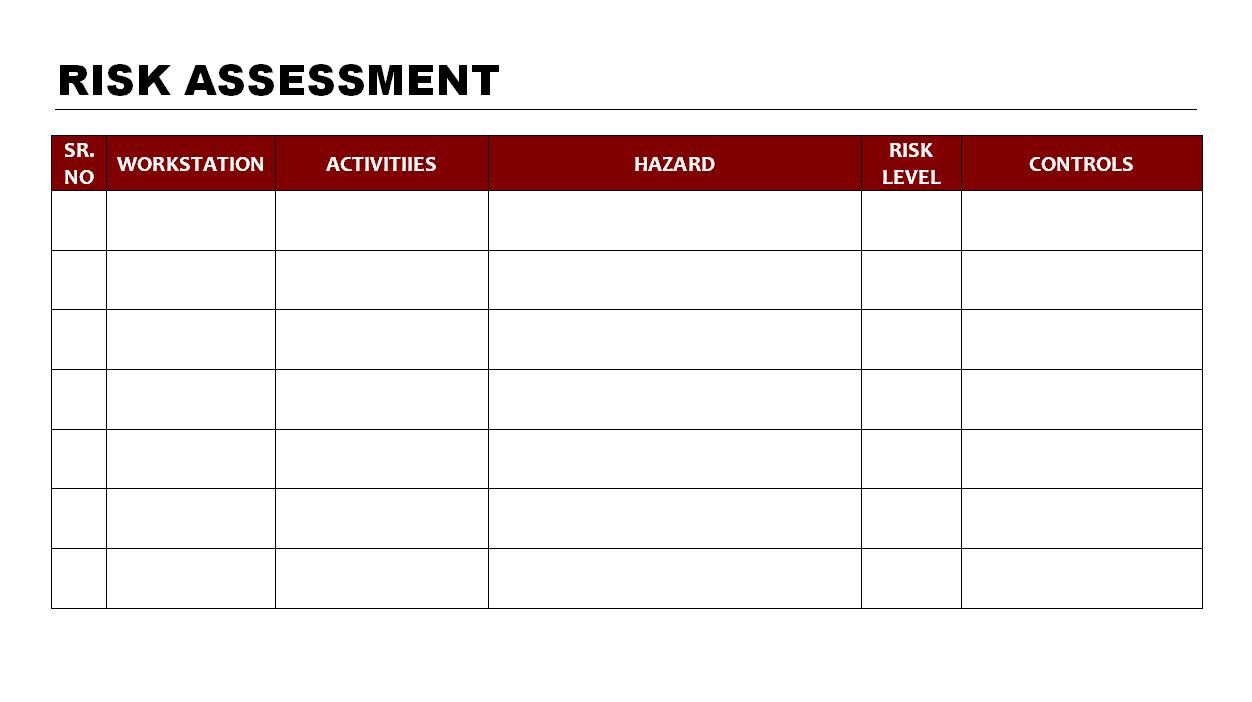 Doc941680 Risk Management Form Template risk assessment – Download Risk Assessment Template