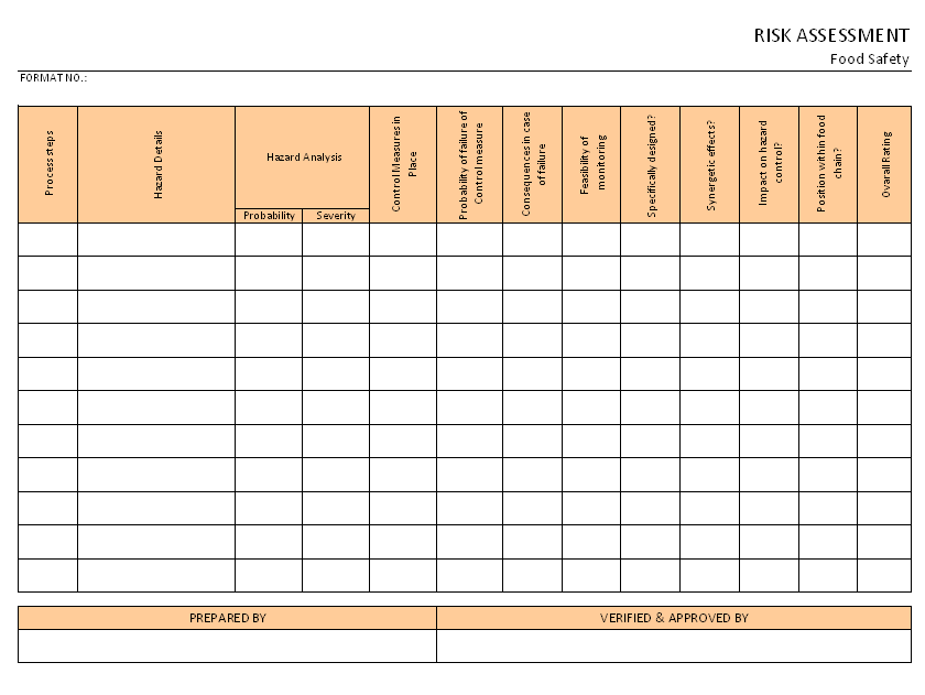 Doc14211004 Risk Assesment Sample Risk Assessment Form – Free Risk Assessment Template
