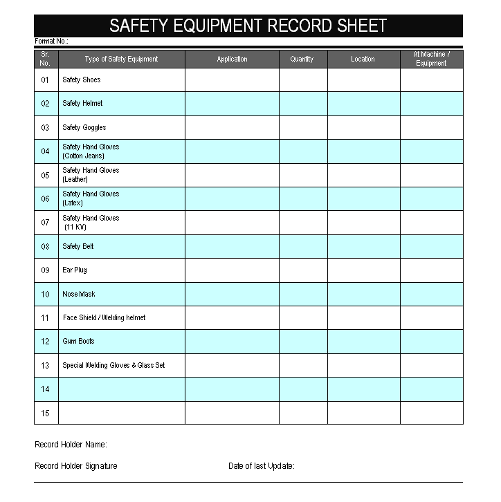 office supply checklist excel