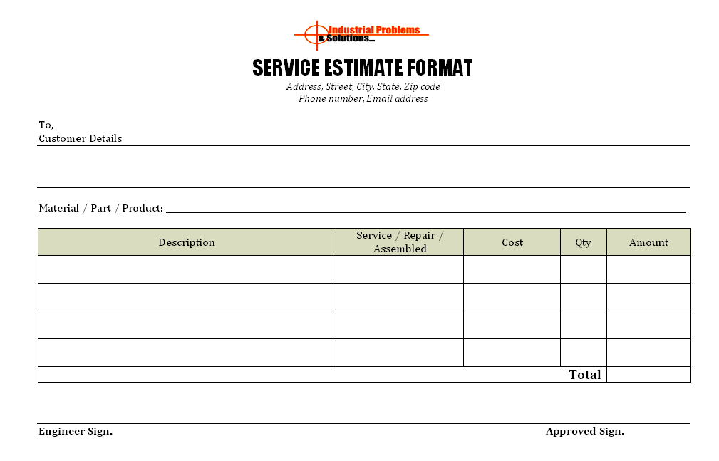 service report template free