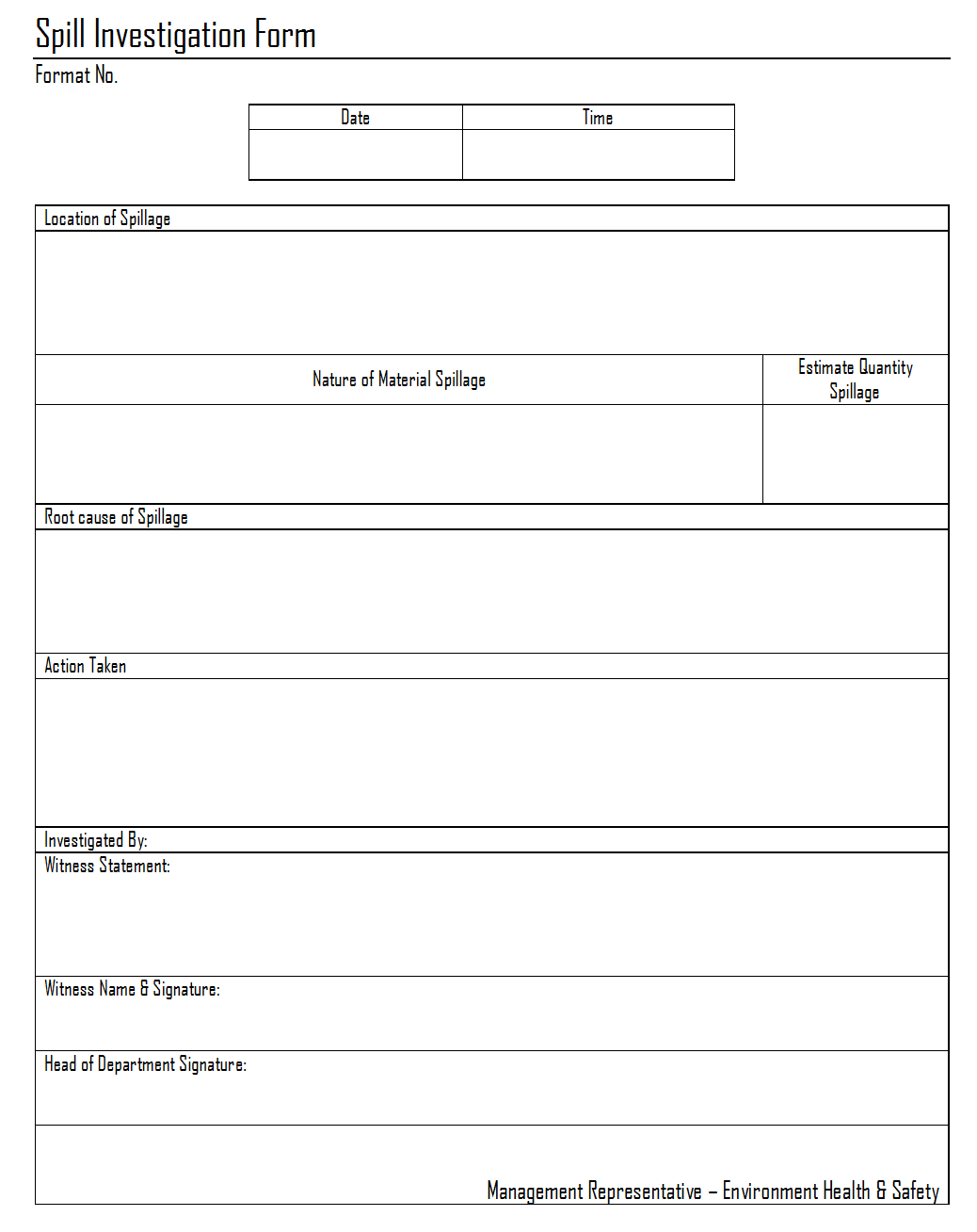 Incident report template  Free Formats Excel Word