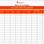 Calibration Calendar format, Calibration Calendar template, Calibration Calendar example, Calibration Calendar sample, Calibration Calendar pdf