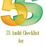 5S Audit Checklist for Production Department