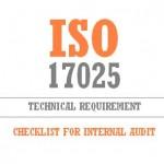internal Audit Checklist as per ISO 17025