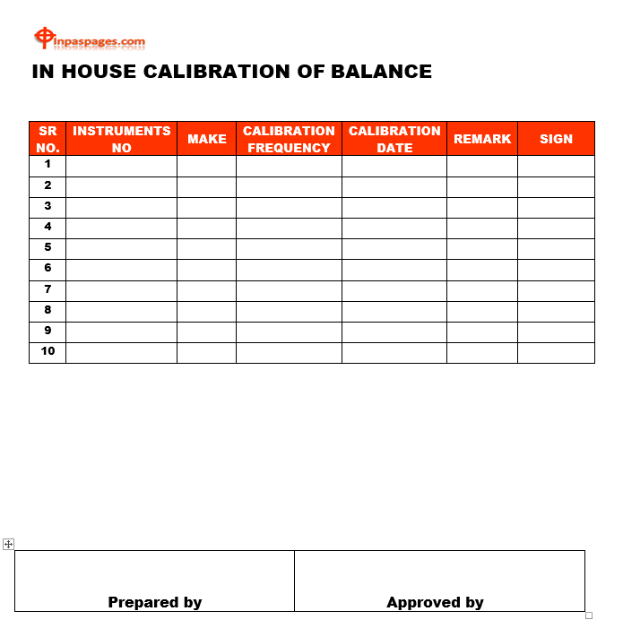 In house calibration format, In house calibration example, In house calibration sample, In house calibration template, In house calibration pdf, In house calibration excel