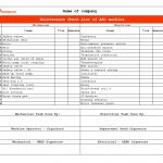 machine maintenance checklist, machine maintenance checklist template, machine maintenance checklist excel