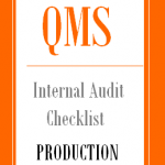 Internal Audit Checklist for Production