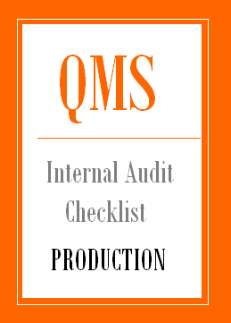 Internal Audit Checklist for Production Department