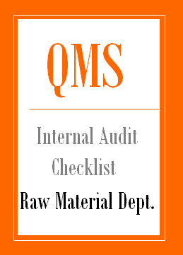 QMS Internal Audit Checklist for Raw material