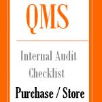 Internal Audit Checklist for Purchase