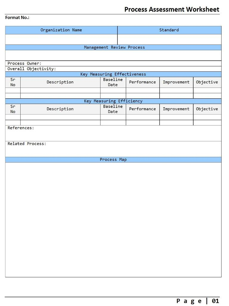 Process assessment worksheet - Image 01