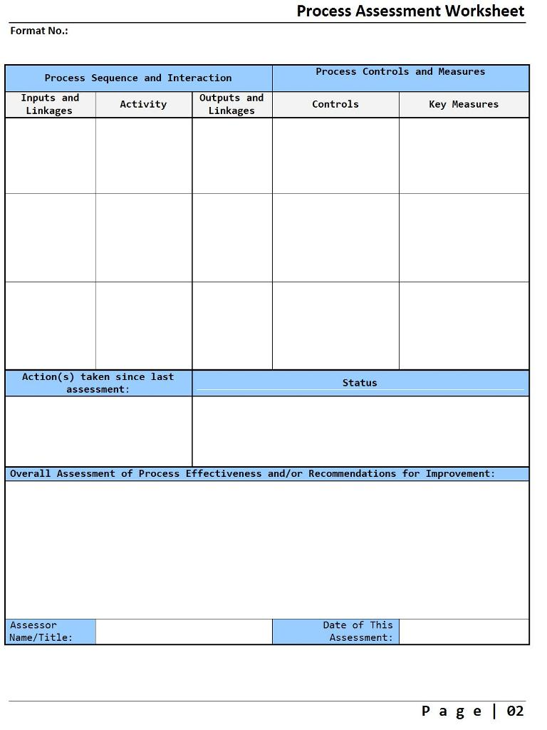 Process assessment worksheet - Image 02