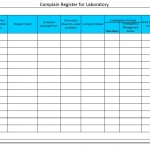 Complaint register for laboratory