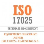 equipment checklist ISO 17025 Clause No 5.5