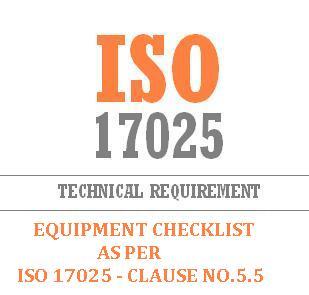 equipment checklist ISO 17025 Clause No 5.5