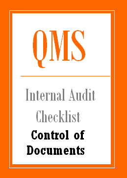 QMS Internal Audit Checklist for Control of Documents