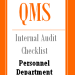 Internal Audit Checklist for Personnel Department