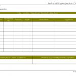 Belt & sling inspection checklist