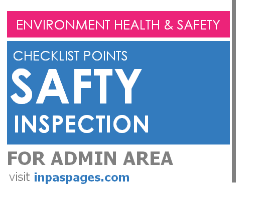 Safety inspection Checklist points for Admin area