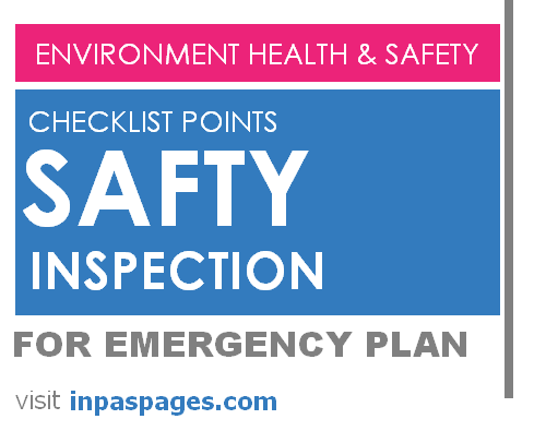 Safety inspection checklist points for Emergency Plan