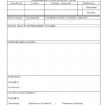 maintenance checklist for electrical department