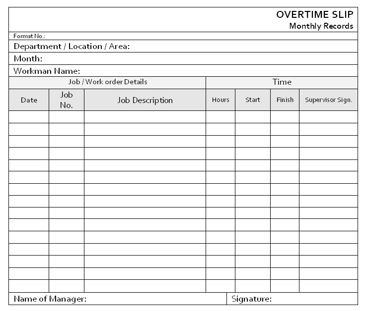 overtime sign up sheet template