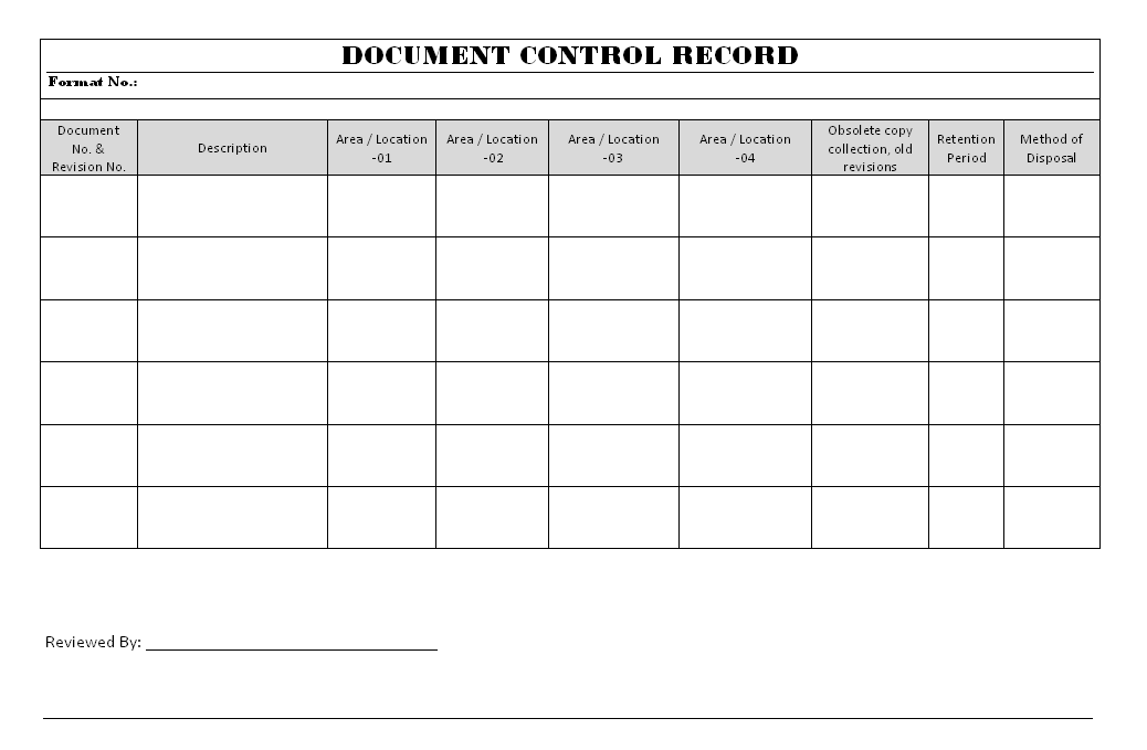 Document Control record