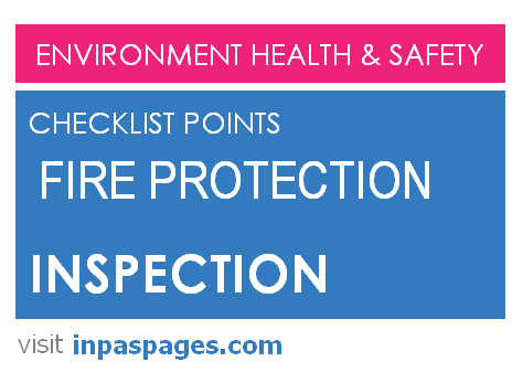 Fire Protection inspection checklist