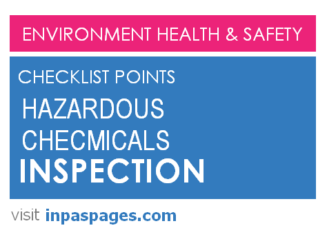 Hazardous Chemical Inspection Checklist