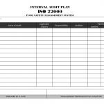 Internal Audit Plan ISO 22000