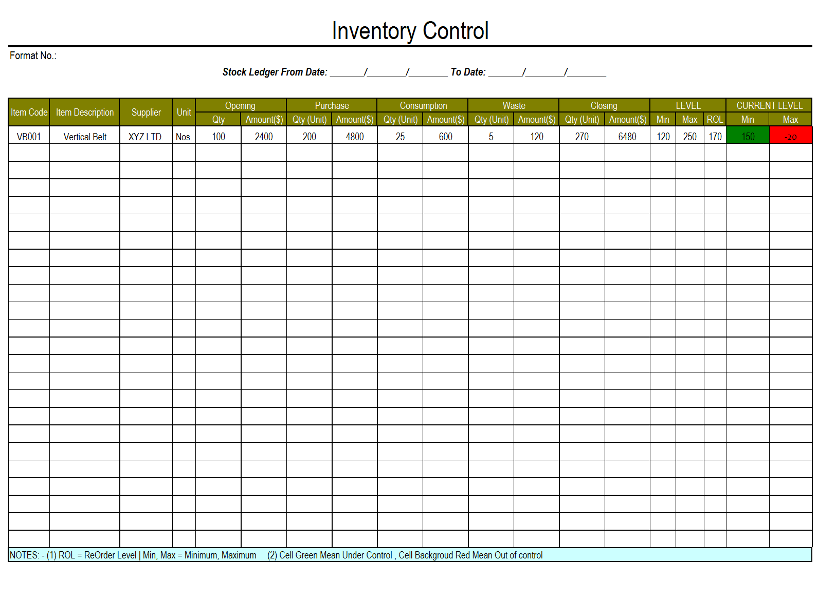 inventory control template. Black Bedroom Furniture Sets. Home Design Ideas