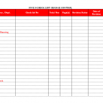 5S checklist change control