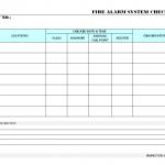 Fire alarm system checklist